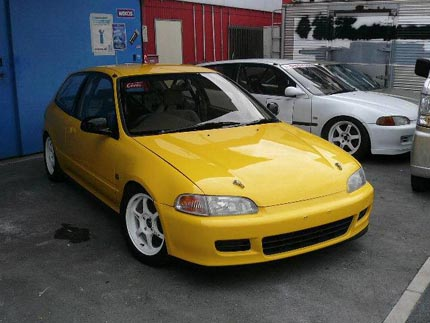Yellow Eg6 Civic Sir Ii